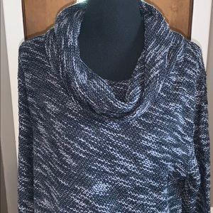 LOFT shades of gray cowl neck sweater dress
